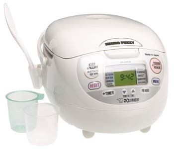 8: Zojirushi NS-ZCC10 5-1/2-Cup (Uncooked) Neuro Fuzzy Rice Cooker and Warmer