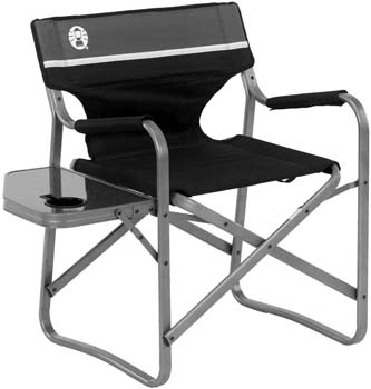 1: Coleman Camp Chair with Side Table