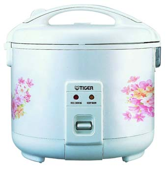 10: Tiger JNP-1800-FL 10-Cup (Uncooked) Rice Cooker and Warmer, Floral White