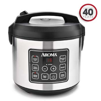 5: Aroma Housewares 20 Cup Cooked (10 cups uncooked) Digital Rice Cooker