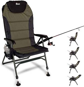 5: Earth Products Ultimate Outdoor Adjustable Fishing Chair with Adjustable Legs