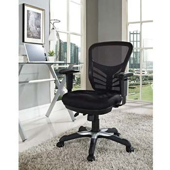 7: Modway Articulate Ergonomic Mesh Office Chair in Black