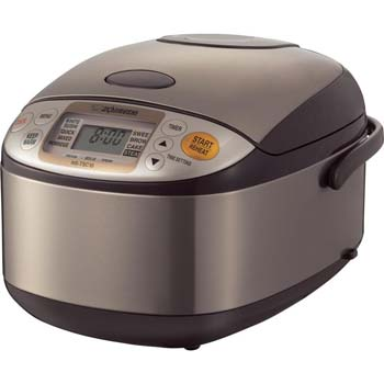 4: Zojirushi NS-TSC10 5-1/2-Cup (Uncooked) Micom Rice Cooker and Warmer, 1.0-Liter