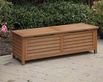 8: Home Styles 5661-25 Montego Bay Deck Box, Eucalyptus Finish