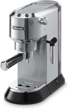 4: Delonghi EC680M DEDICA 15-Bar Pump Espresso Machine, Stainless Steel