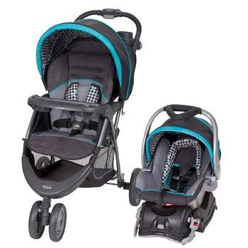 5. Baby Trend EZ Ride 5 Travel System, Hounds Tooth