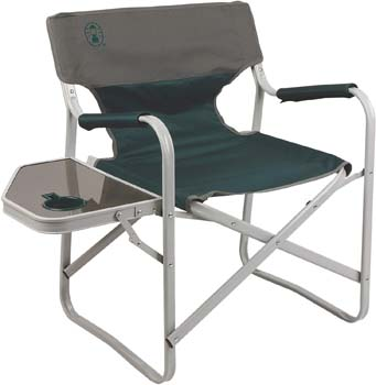 3: Coleman Outpost Breeze Portable Folding Deck Chair with Side Table