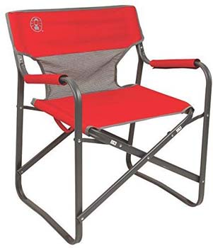 6. Coleman 2000019421 Chair Steel Deck Red