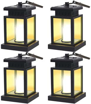 9: GVSHINE 4 Pack LED Solar Mission Lantern