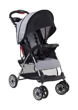 2: Kolcraft Cloud Plus Lightweight Easy Fold Compact Travel Stroller, Slate Grey