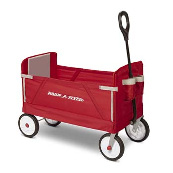8: Radio Flyer 3-in-1 EZ Folding Wagon for kids and cargo