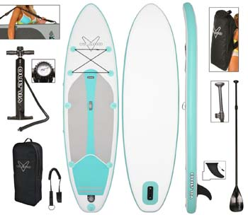 10. Vilano Journey Inflatable SUP Stand up Paddle Board Kit