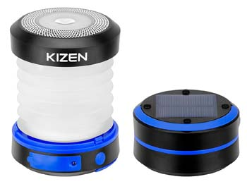 7: Kizen Solar Powered LED Camping Lantern