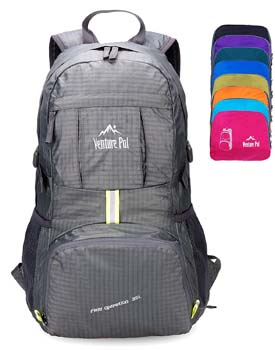 10: Venture Pal Lightweight Packable Durable Travel Hiking Backpack Daypack