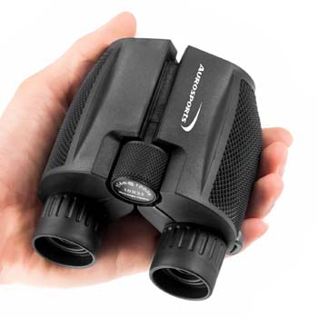 2: Aurosports 10x25 Folding High Powered Binoculars