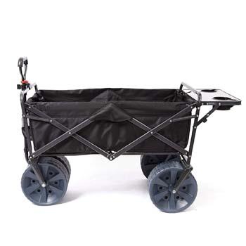 9: Mac Sports Heavy Duty Collapsible Folding All Terrain Utility Wagon Beach Cart with Table – Black