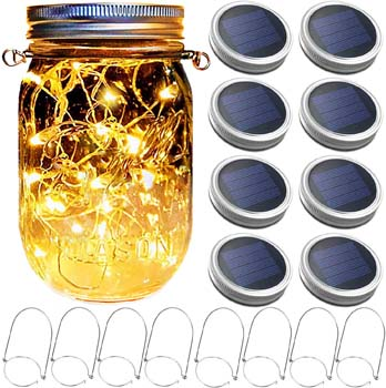 5: Yitee Mason Jar Solar Lantern Lights