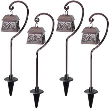 4: Maggift 22 Inch Hanging Solar Lights Multipurpose Shepherd Hook Lights