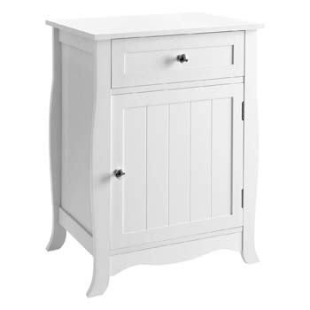 9: SONGMICS White Nightstand, End Table