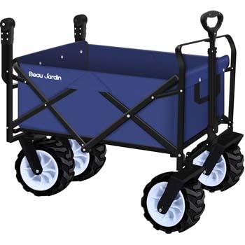 2: BEAU JARDIN Folding Push Wagon Cart