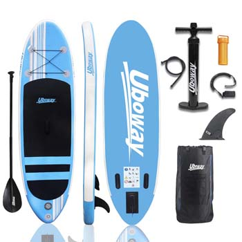 3. UBOWAY Inflatable Stand Up Paddle Board 6 inch Thick iSUP