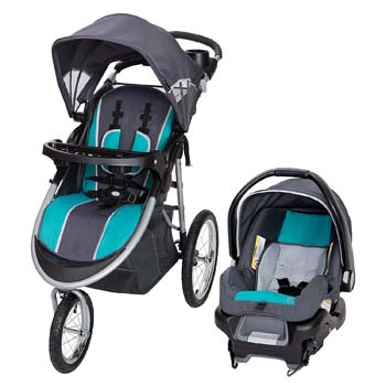 8. Baby Trend Pathway 35 Jogger Travel System, Optic Teal