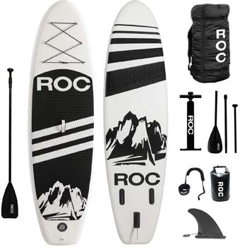 1: Roc Inflatable Stand Up Paddle Boards W Free Premium SUP