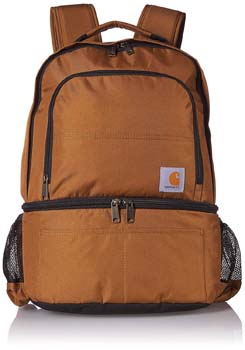 10. Carhartt 2-in-1 Insulated Cooler Backpack, Brown