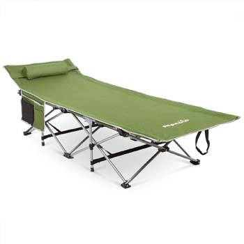 4: Alpcour Folding Camping Cot – Deluxe Collapsible Single Person Bed