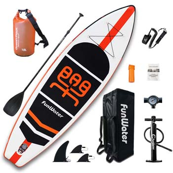 6. FunWater Inflatable Stand Up Paddle Boards