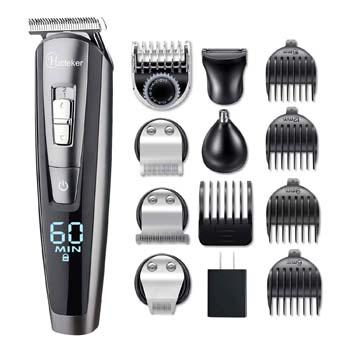 3: HATTEKER Beard Trimmer Kit For Men Cordless Mustache Trimmer