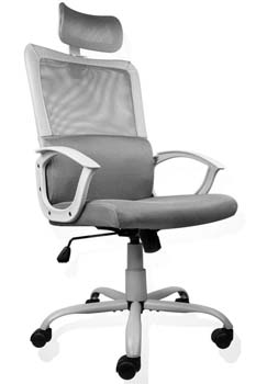 6: SMUGDESK Ergonomic Office Chair Adjustable Headrest Mesh Office Chair