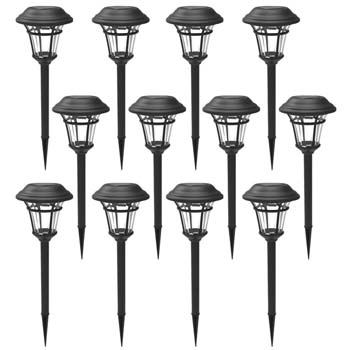 7: MAGGIFT 12 Pack Solar Pathway Lights Outdoor Solar Garden Lights for Patio, Yard, Driveway