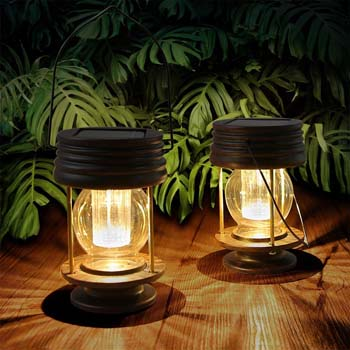 2: Pearlstar Hanging Solar Lights Outdoor