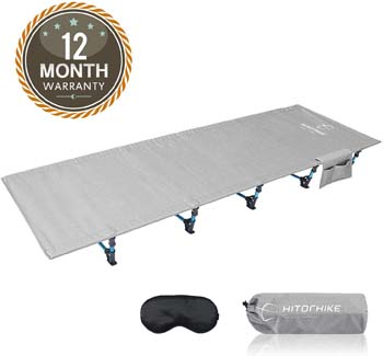 9: HITORHIKE Camping Cot Compact Folding Cot Bed for Outdoor Backpacking Camping Cot Bed