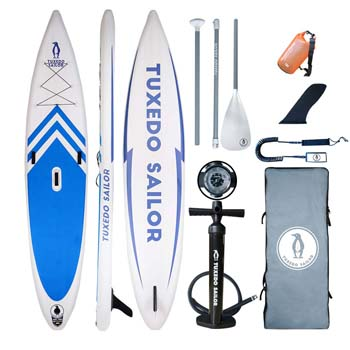9. Tuxedo Sailor Inflatable Stand Up Paddle Board