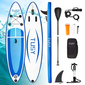 4. TUSY Stand Up Paddle Board Inflatable SUP Blow Paddleboards