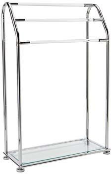 4: Organize It All 3 Bar Bathroom Towel Drying Rack & Holder with Shelf, Chrome