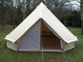 10: DANCHEL 4-Season Family Cotton Bell Tents (10ft 13.1ft 16.4ft 19.7ft Dia. Size Options)