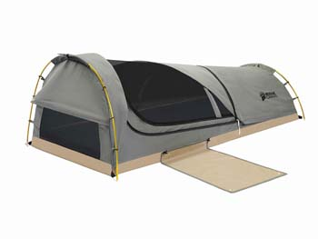 8: Kodiak Canvas 1-Person Canvas Swag Tent with Sleeping Pad, Olive, One Size