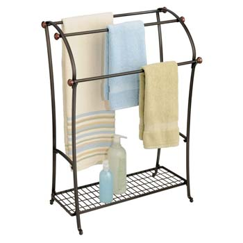 1: mDesign Large Freestanding Towel Rack Holder