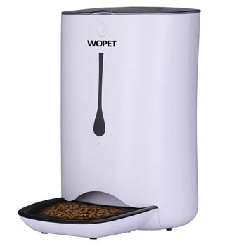 6: WOPET Automatic Pet Feeder Food Dispenser