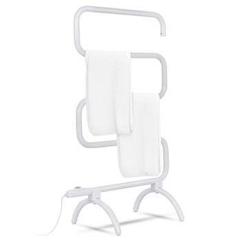 10: Tangkula Towel Warmer, Home Bathroom 100W Electric 5-Bar Towel Drying Rack