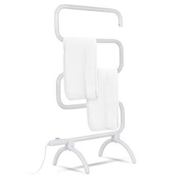 10: Tangkula Towel Warmer, Home Bathroom 100W Electric 5-Bar Towel Drying Rack