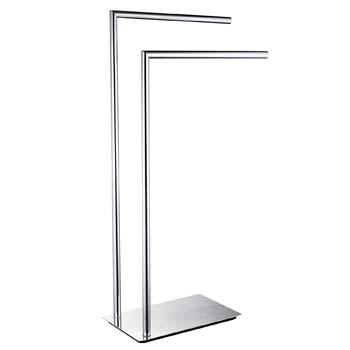 6: LANGPAI Freestanding Double Towel Racks Bathroom Accessories Towel Holder