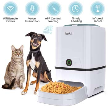 2: Iseebiz Automatic Pet Feeder 5L Smart Feeder Dog Cat Food Dispenser