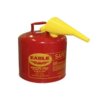 7. Eagle UI-50-FS Red Galvanized Steel Type I Gasoline Safety Can