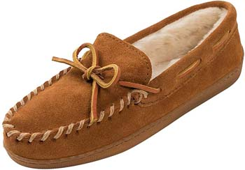4. Minnetonka Men's Pile Lined Hardsole Slipper
