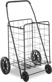 3. Whitmor Deluxe Utility Cart, Extra Large, Black