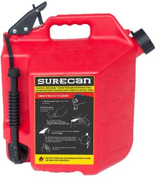 5. Surecan CRSUR5G1 Gasoline CAN, 5.0 Gallon, Red